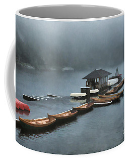 Foggy Morning At The Lake  Coffee Mug