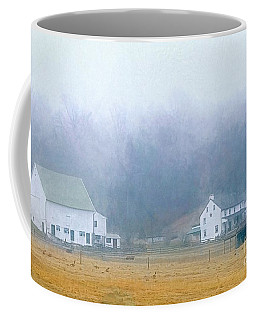 Foggy Morning Farm In West Chester, Pa Coffee Mug