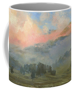 Foggy Morning In Mountains Coffee Mug