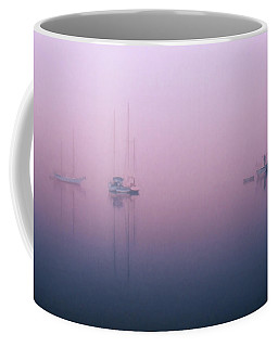Coffee Mug featuring the photograph Foggy Morning On The  Sassafras River by Richard Goldman