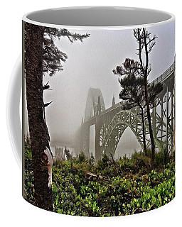 A Foggy Morning On Yaquina Bay Coffee Mug