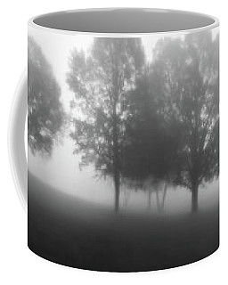 Foggy Morning Pasture Sunrise - Bw Coffee Mug