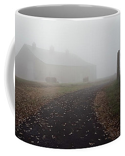 Foggy Morning Sunrise Barn - Kentucky Coffee Mug