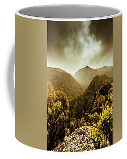 Foggy Mountainous Forest Coffee Mug