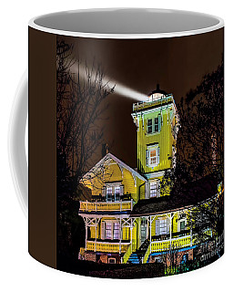 Coffee Mug featuring the photograph Foggy Night At Hereford by Nick Zelinsky