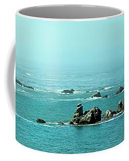Sunny Blue Pacific Ocean Along The Oregon Coast Coffee Mug
