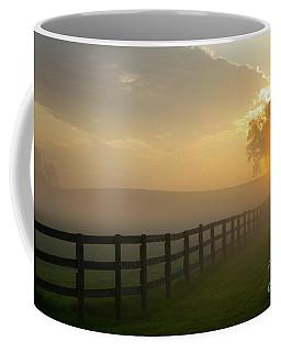 Foggy Pasture Sunrise Coffee Mug