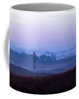 Foggy Sunrise In The Flint Hills Coffee Mug