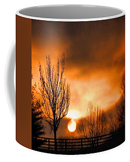 Coffee Mug featuring the photograph Foggy Sunrise by Sumoflam Photography