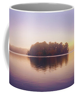 Coffee Mug featuring the photograph Foggy Sunset Reflections by Lilia D
