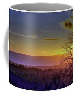 Foggy Sunset Coffee Mug by Victor K