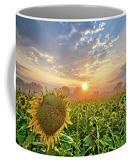 Foggy Yellow Fields Coffee Mug