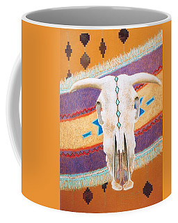 Coffee Mug featuring the painting Foiled Skull by M Diane Bonaparte