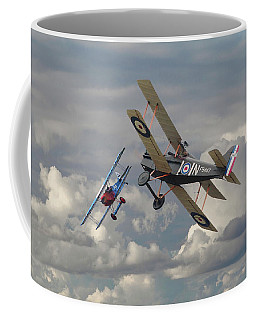 Coffee Mug featuring the digital art Fokker Dvll And Se5 Head To Head by Pat Speirs