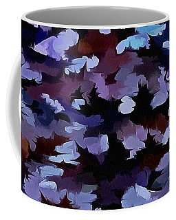 Foliage Abstract In Blue And Lilac Tones  Coffee Mug