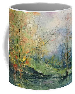 Foliage Flames On The River Coffee Mug
