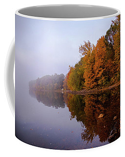 Coffee Mug featuring the photograph Foliage In The Fog by Lilia D