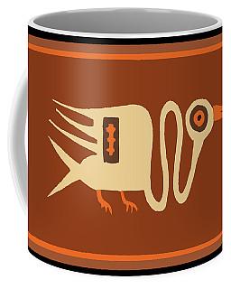Folk Art Crane Coffee Mug
