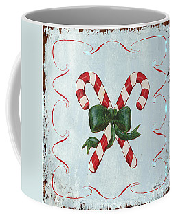 Folk Candy Cane Coffee Mug