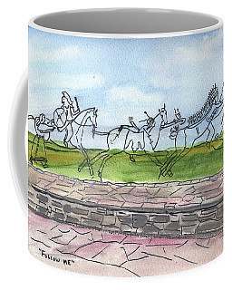 Coffee Mug featuring the painting Follow Me by Linda Feinberg