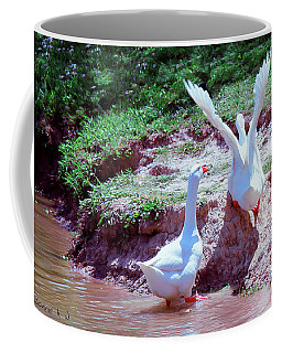 Coffee Mug featuring the photograph Follow The Leader by Bonnie Willis