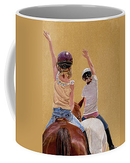Follow The Leader - Horseback Riding Lesson Painting Coffee Mug