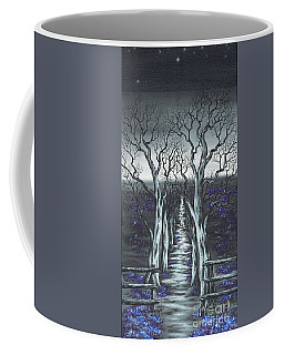 Coffee Mug featuring the painting Follow The Stars by Kenneth Clarke
