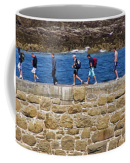 Coffee Mug featuring the photograph Follow The Yellow Brick Road by Terri Waters