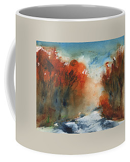 Coffee Mug featuring the painting Following Autumn by Frank Bright