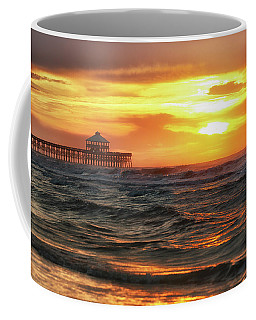 Folly Beach Pier Sunrise Coffee Mug
