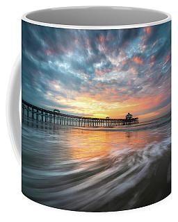 Folly Beach Sc Ocean Seascape Charleston South Carolina Scenic Landscape Coffee Mug