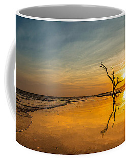 Folly Beach Skeleton Tree At Sunset - Folly Beach Sc Coffee Mug