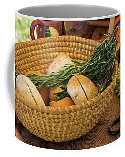 Coffee Mug featuring the photograph Food - Bread - Rolls And Rosemary by Mike Savad