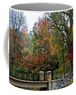 Foot Bridge In The Fall Coffee Mug