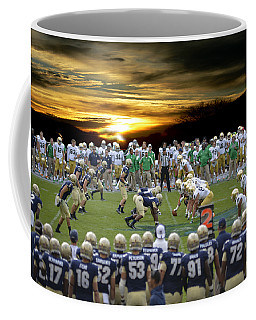 Coffee Mug featuring the photograph Football Field-notre Dame-navy by Ericamaxine Price