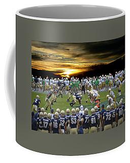 Football Field-notre Dame-navy Coffee Mug