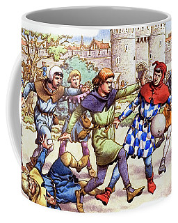 Football In The Middle Ages Coffee Mug