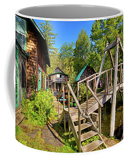 Coffee Mug featuring the photograph Footbridge At Palmer Point by David Patterson