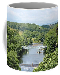 Footbridge Over The River Tees Coffee Mug