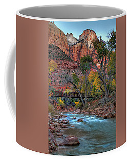 Footbridge Over Virgin River Coffee Mug