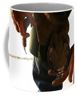 Coffee Mug featuring the photograph Footcare by Angela Rath