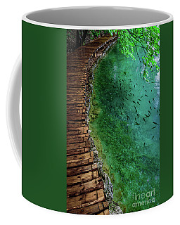 Footpaths And Fish - Plitvice Lakes National Park, Croatia Coffee Mug