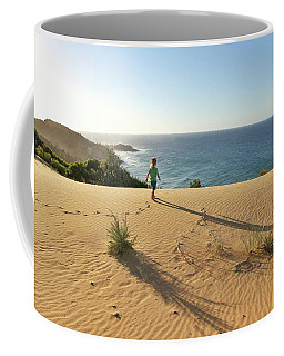 Footprints In The Sand Dunes Coffee Mug