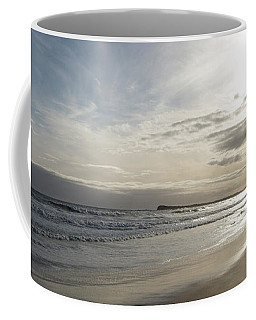 Coffee Mug featuring the photograph Footprints In The Sand by Linda Lees