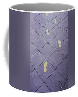 Footsteps On The Street Coffee Mug