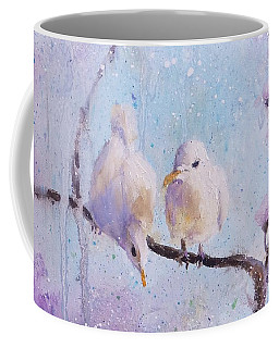 Coffee Mug featuring the painting For Mom by Laura Lee Zanghetti