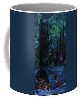 Coffee Mug featuring the painting Forbidden Forest by Christophe Ennis