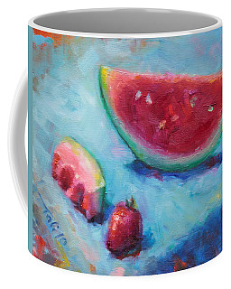 Coffee Mug featuring the painting Forbidden Fruit by Talya Johnson