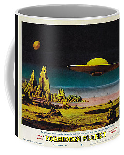Forbidden Planet In Cinemascope Retro Classic Movie Poster Detailing Flying Saucer Coffee Mug