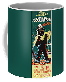 Forbidden Planet In Cinemascope Retro Classic Movie Poster Portraite Coffee Mug